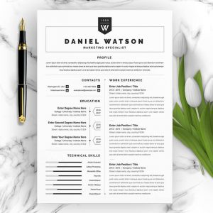 Marketing Specialist CV Template