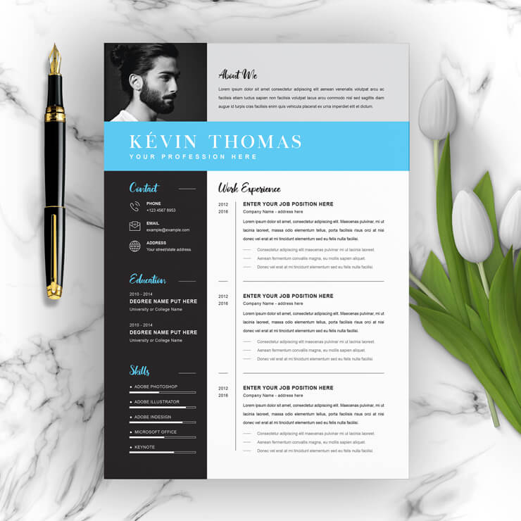 4 Pages Resume Template 2021