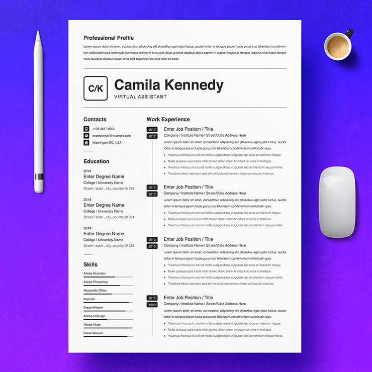 Virtual Assistant Resume Template