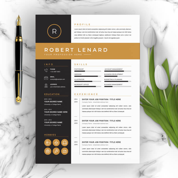 Creative One Page Resume 2021
