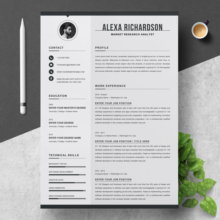 Market Research Analyst Resume