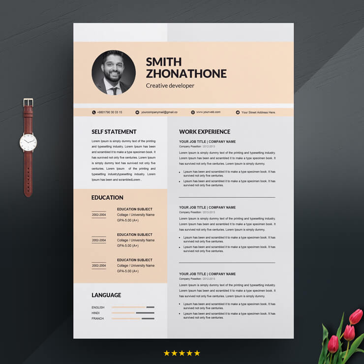 Free Web Developer resume 2021
