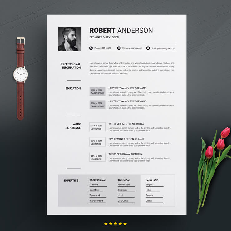 Junior Php Developer Resume Template
