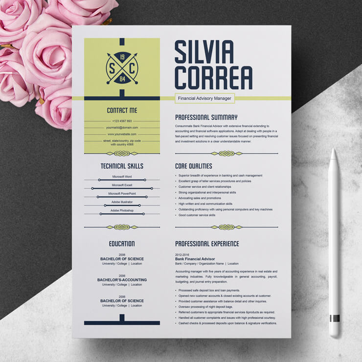 Professional CV Template 2021