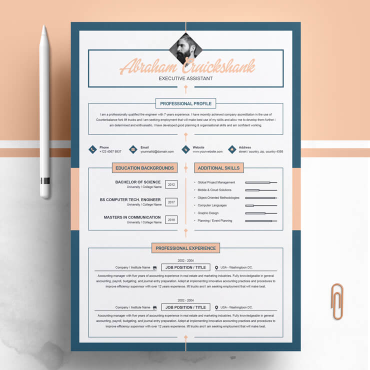 Executive Assistant Resume Template.