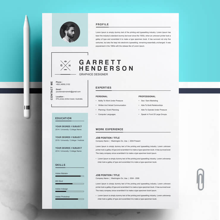 Modern Graphic Design Resume Template