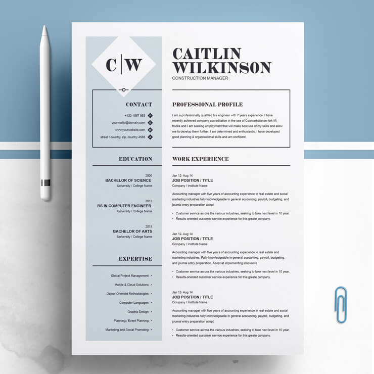 Construction Manager Resume 2021