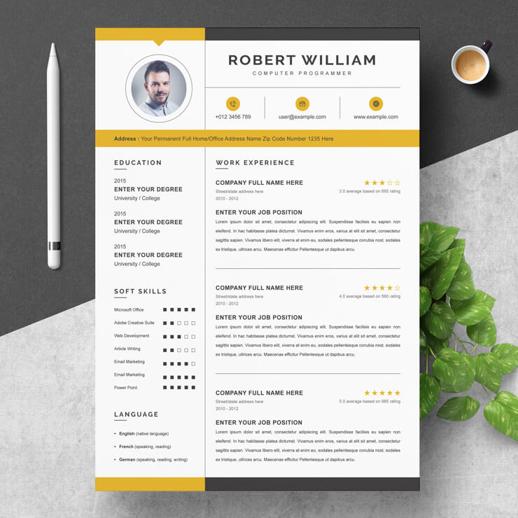 Apple Pages Modern Resume