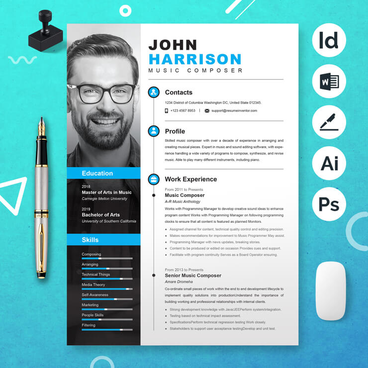 Music Composer Resume Template